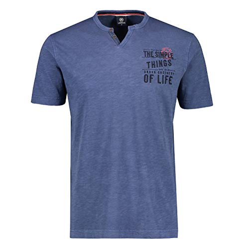 LERROS Herren T-Shirt/Serafino 1/2 2133947 blau (M)