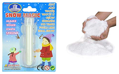 Toyland® Magic Snow - Nieve artificial - Nieve decorativa - Parece nieve real - Decoraciones navideñas