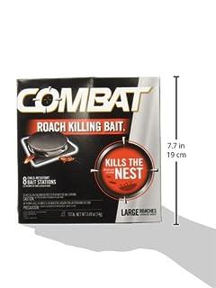 عروض Combat Roach Killing Bait, Large Roach Bait Station, Kills the Nest, Child-Resistant, 8 Count