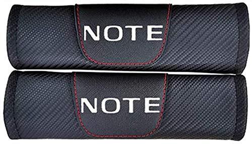 TDDRW 2 StüCk Auto Sicherheitsgurt Schulterpolster Gurtschutz FüR Nissan Note, Kohlefaser Gurtpolster Abdeckung Auto Styling ZubehöR
