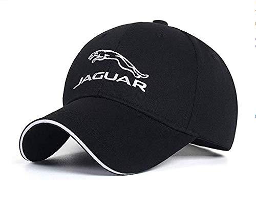 Dark rose Adjustable car Logo Baseball Cap, Black car Logo Baseball hat Outdoor Sports Sunscreen Baseball Cap for Men and Women for Jaguarr