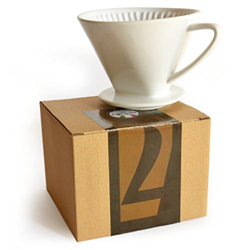 Caffé Italia Filtro per Caffè in Porcellana Riutilizzabile Misura 4 | Tazzina Filtrante per Caffè Tradizionale | Filtro Manuale Caffè in Ceramica Colore Bianco | Capacità 4 Tazze