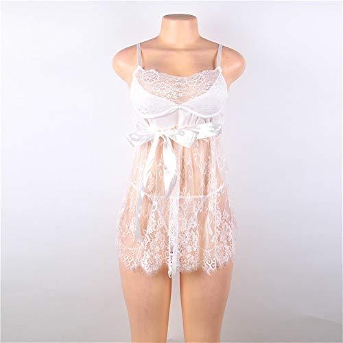 NO LOGO L-Yune, Sexy Women Erotic Plus Size Babydoll Dress Ropa Interior de Mujer Transparente...