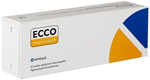 ECCO change One Day UV Tageslinsen weich, 30 Stück / BC 8.60 mm / DIA 14.20 mm / -2.75 Dioptrien