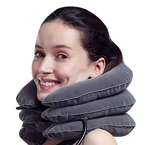 MEDIZED Aufblasbare Cervical Neck Traction Device Verbessern Wirbelsäule Ausrichtung Reduzieren Hals Schmerzen Zervikaler Kragen Einstellbar GRAU Farbe