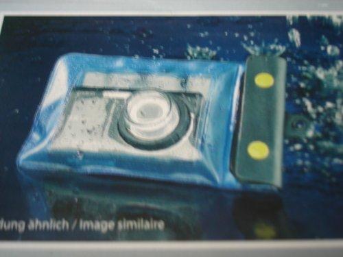 Somikon Unterwasserhülle: Unterwasser-Kameratasche L mit Objektivführung Ø 38 mm (Unterwasser Kamera Hüllen)