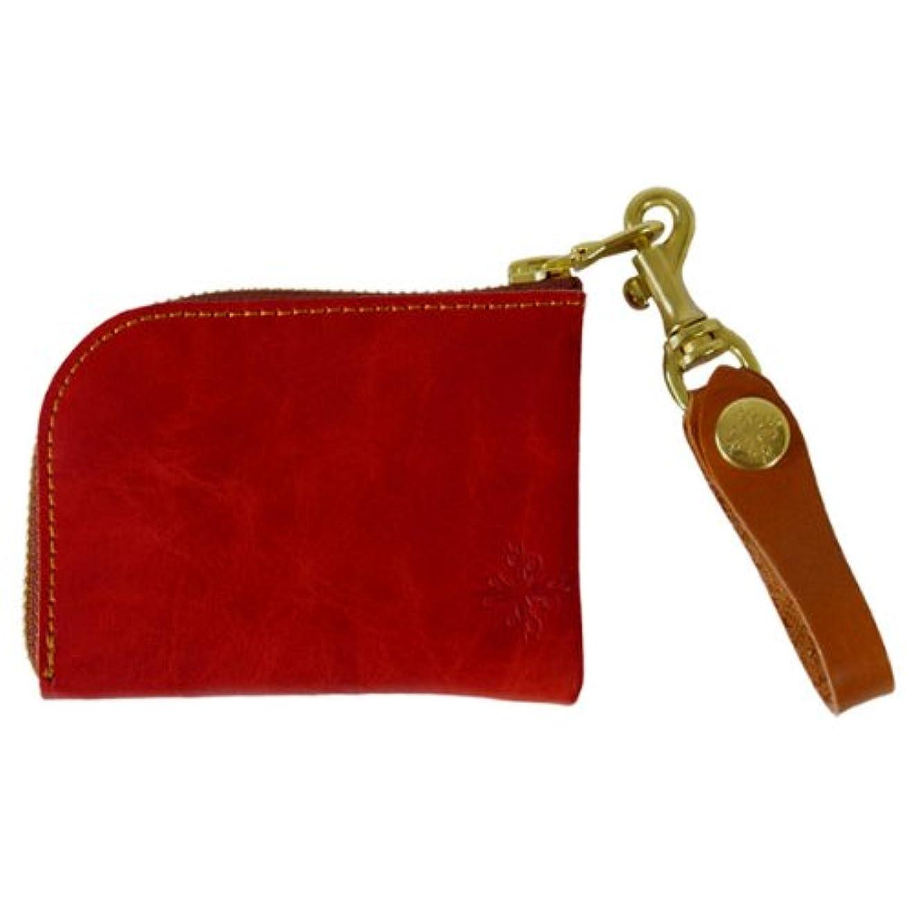 勧める空洞厚さアジリティ キップワックスアルジャン L型財布 Agility キップワックスシリーズ L字ファスナーコインケース レッド