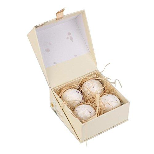 MuSheng(TM) Balles de bain Balles Set Sel de mer naturel Lavande Bulle Gommage corporel idéal Kit cadeau idéal Balles effervescentes Spa