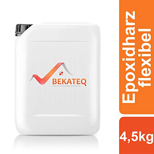 BEKATEQ 2K Epoxidharz transparent flexibel 4,5kg, Grundierung BK-212EP Bodenversiegelung für Asphalt, PVC, Holz, Linoleum, Vinyl