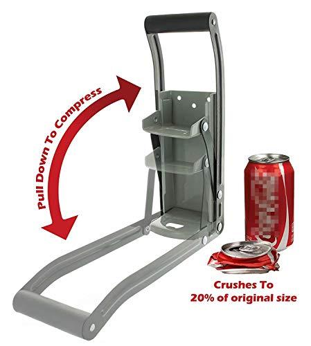 Waymeduo zum Recycling 16 oz (zufällige Farbe) Metalldosenbrecher für Aluminium-Selters, Soda, Bierdosen und Flaschen Hochleistungs-Wandzerstörer Black 24.7 * 8.7cm