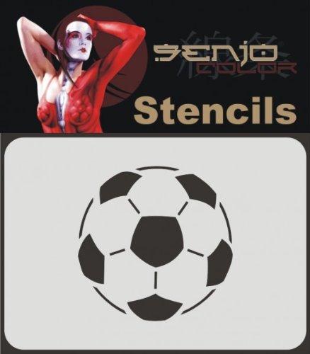 Senjo Color Bodyart Schablone A6 - Fussball