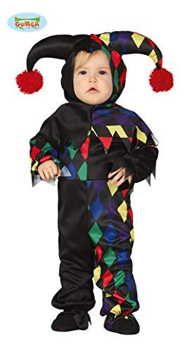 Dunkler Clown für Kinder Halloween Kostüm Harlekin Baby Gr. 74 - 92, Größe:86/92