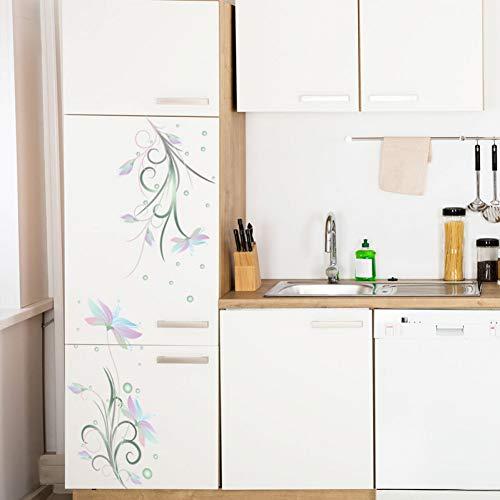 MMLFY Muursticker Elegante bloemen witte bloem Muursticker koelkast deur glazen kast decoraties behang muurschildering Art koelkast stickers