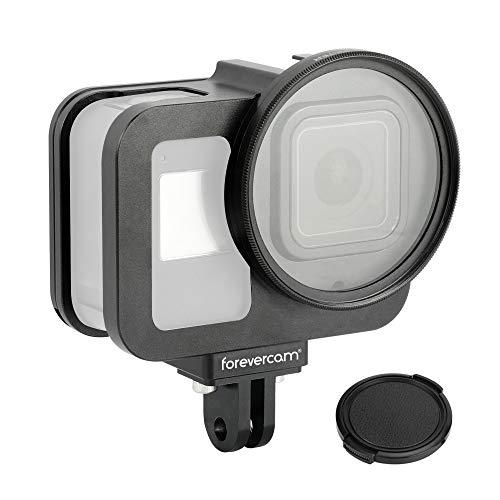 Forevercam - Carcasa de Aluminio para cámara GoPro Hero 8, Color Negro