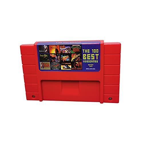LINLIN Super 100 en 1 Video Game Fit for SNES Cartridge 16 bit - NTSC US - Mortal Kombat - Sally (Color : Red)
