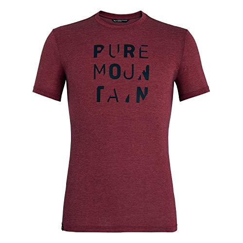 Salewa Herren Hemden und T-Shirts Pure mit Dri-Rel M S/S Tee, Velvet Red Melange, 54/2X, 00-0000027552