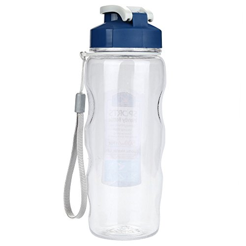Fine Sports Water Bottle,Portable Travel Sport Tea Water Seal Bottle 500ml Travel Bottle for Outdoors Camping Hiking Cycling (White)