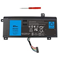 Capacity: 6200mAh/69Wh Voltage: 11.1V Cells: 6-cell Color: black Compatible P/N: G05YJ 0G05YJ Y3PN0 8X70T  Fit laptop model: Dell Alienware ALW14D-5528 ALW14D-1528 ALW14D-4528 ALW14D-1828 ALW14D-4828 ALW14D-2728 ALW14D-4728 ALW14D-1728 ALW14D-5828 AL...