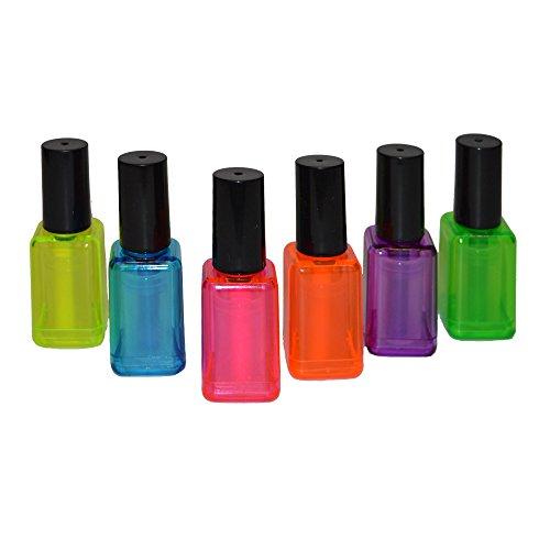 6er Set Textmarker im Nagellack Design Pink Lila Orange Blau Gelb Grün Leuchtmarker