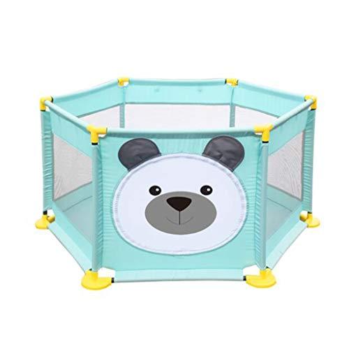 JIMI-I Clôture de Jeu bébé bébé Rampant Tapis sécurité Enfant Piscine à balles Marine 6 Panneau (Plusieurs forfaits à Choisir)
