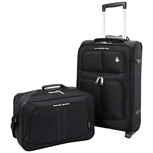 Large Capacity Maximum Allowance 22x14x9 Airline Approved Delta United Southwest Carry On Luggage Rolling Travel Trolley Suitcase   Underseat Travel Cabin Bag Personal Item 16x10x8in for Men & Women