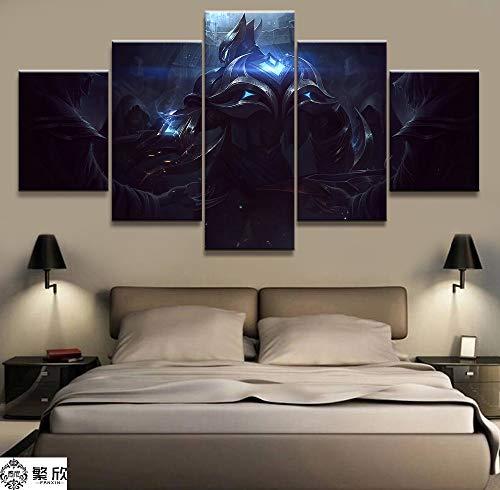 5 Panel Lol Zed Spiel Leinwand Gedruckt Malerei Für Wohnzimmer Wandkunst Wohnkultur Hd Bild Kunstwerke Poster(NO Frame size 2)