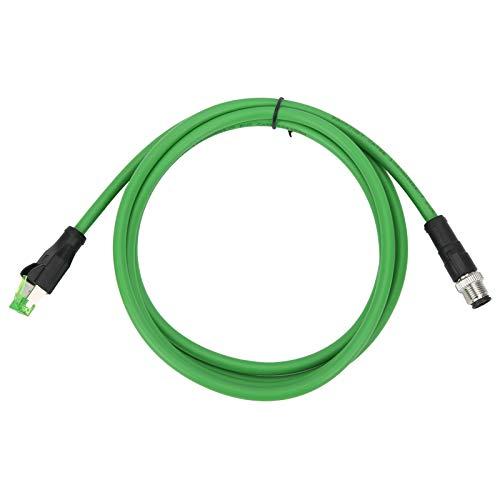 Latiguillo con conector macho M12 D-code de 4 pines + conector RJ45, IP67 a prueba de agua para conectar dispositivos M12 en aplicaciones de bus de campo y Ethernet industrial