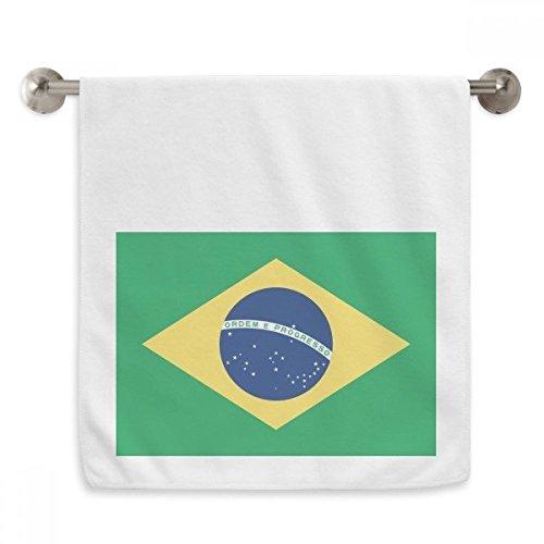 OFFbb brasilien nationalFahnege südamerika Land Circlet weiße tücher weichen Handtuch waschlappen 13x29 Zoll
