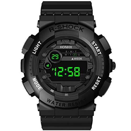 Armband für Herren/Skxinn Männer Digital LED Uhrenarmband,Mode Outdoor Sportuhr,Luxury Electronic Herrenuhr Ausverkauf(Schwarz)
