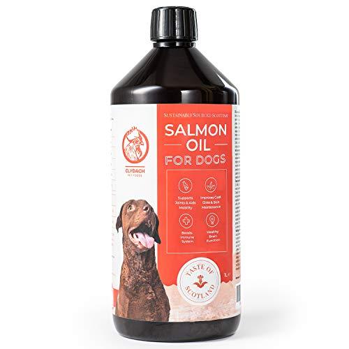 Clydach Farm Scottish Salmon Oil, for Dogs, Omega 3, 6 and 9, 100% Natural & Pure Premium Salmon Oil (1L)
