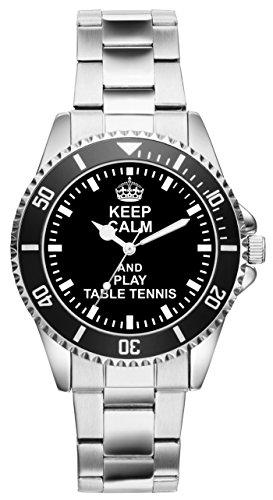 Tischtennis Geschenk Artikel Idee Fan Uhr 2053
