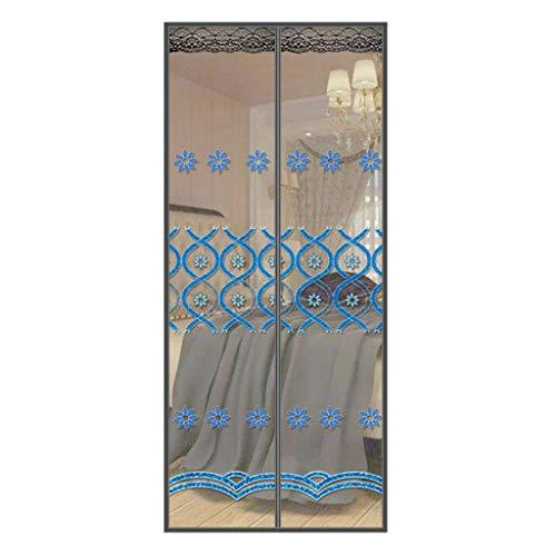 Zanzariera Magnetica Zanzariera Magnetica Portello di Schermo della zanzara Porta, Mantiene zanzare Insetti Fuori (Color : B, Size : 100 * 210CM)