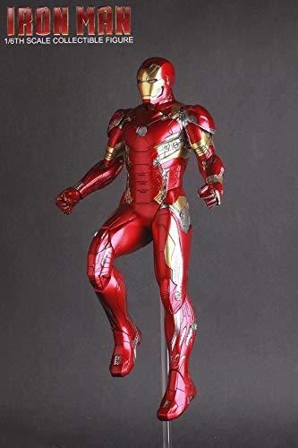 Leileixiao Juguetes Locos Iron Man Figura de acción de Marcos 1/6 Escala Pintado Figura Iron Man Mk46 Marvel Acción PVC calcula el Juguete (Color : No Retail Box)