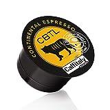 The Coffee Bean & Tea Leaf Continental Espresso Single-Serve CBTL Capsules for The Coffee Bean & Tea Leaf Single Serve Caffitaly System Machines, 10-Count Box