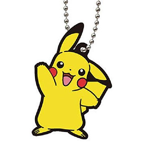 Pokémon Gold Silver Rubber Mascot Swing Keychain Part 5~Pikachu