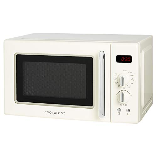Cookology Retro Digital Microwave in Cream RETDI20LCR Freestanding 20L 700W