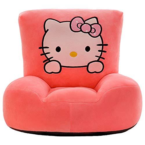 DQYFZQ Hello Kitty Children's foldable sofa children's plush sponge armrest sofa bed toy lazy sofa seat children's chair,a,50cm