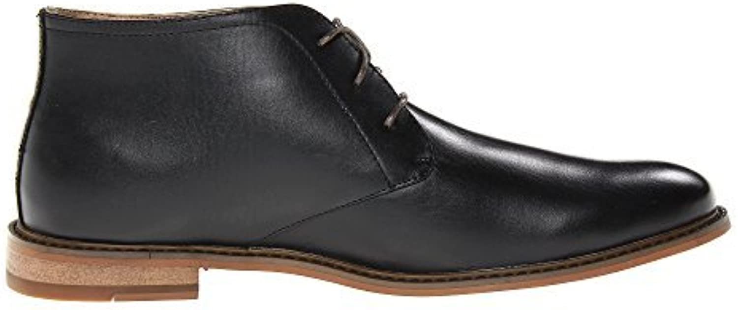 Deer Stags Men's Seattle lace up Black Leather Boot (M16)