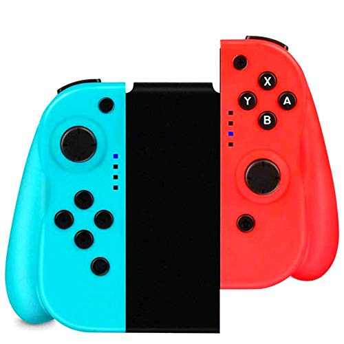 IVSO Nintendo Switch Controller, Bluetooth Wireless Joystick Gamepad Controller Sostituzione, Dual Motori Axis Gyro, Compatibile con Nintendo Switch PRO- Blu e Rosso