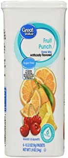 Great Value: Fruit Punch Drink Mix, 1.9 Oz - 6 Packets (2 Pack)