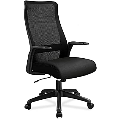 Amazon - 16% Off on Office Chair High Back Desk Chair Mesh Computer Chair for Home Office Executive Swivel Task Chair