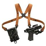 Galco Jackass Rig Shoulder System, Beretta 92F / FS, Right Hand, Premium Steerhide Finish, JR202B