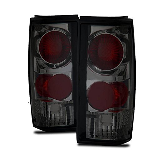 SPPC Dark Smoke Euro Tail Lights Assembly Set for Chevrolet S-10 / G.M.C Sonoma - (Pair) Driver Left and Passenger Right Side Replacement