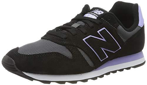 New Balance Damen 373 Sneaker, Schwarz (Black/White Black/White), 40.5 EU