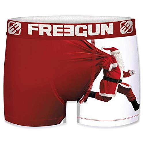 Freegun - Calzoncillos para niños, colección de Navidad Père Noël Run 6-8 Años