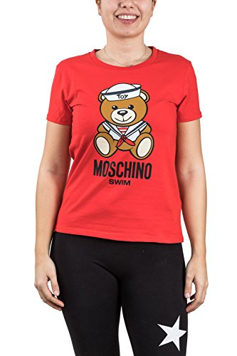 Moschino-t-Shirt-Donna -teddy-toy-orso-A1914 Red (L)