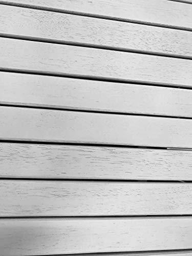 Sedexx GREENA 3er Bank Truhenbank Gartenbank weiß gewischt FSC Eukalyptusholz - 3