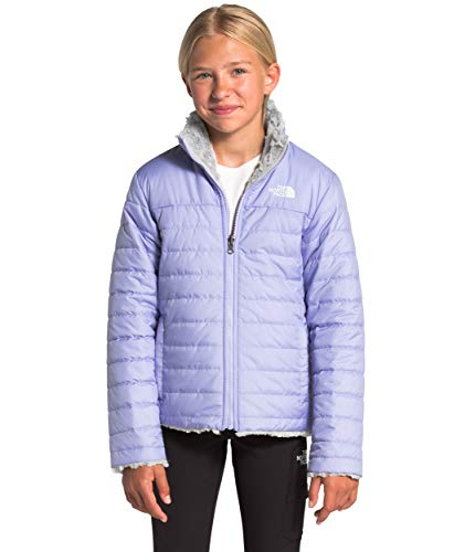 The North Face Girls' Reversible Mossbud Swirl Jacket, Sweet Lavender, L