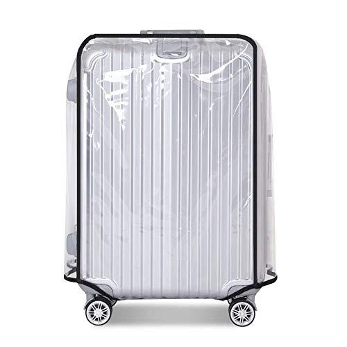 透明 スーツケースカバー キャリーカバー キズ 汚れから守る ラゲッジカバー 防水 傷 汚れ 旅行 出張などに最適(L 28インチ)