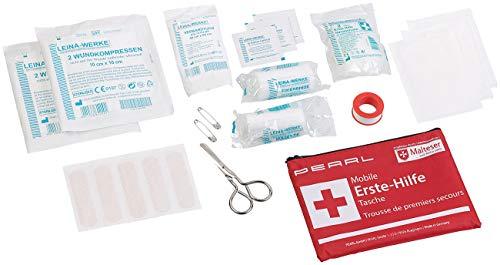 PEARL Erste Hilfe Set: Mobile Erste-Hilfe-Tasche, wasserabweisend, 24-teilig (Verbandtasche)